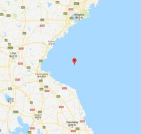 Reported unexploded bomb or mine off Lianyungang, China